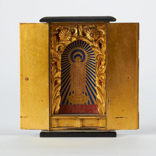 Japanese Meiji Zushi Shrine w/ Box
