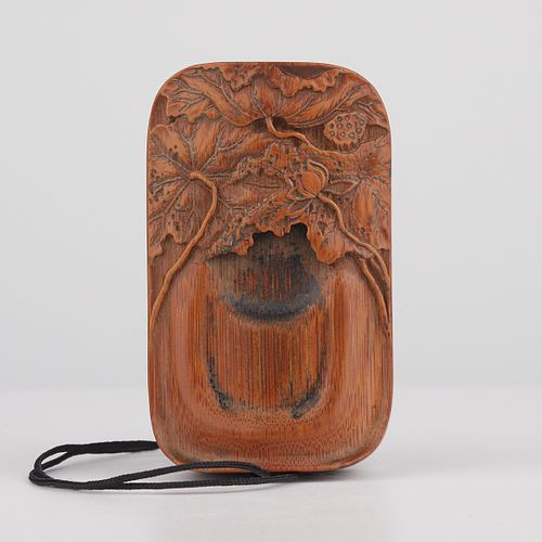 Chinese Carved Bamboo Wood Cricket Cage