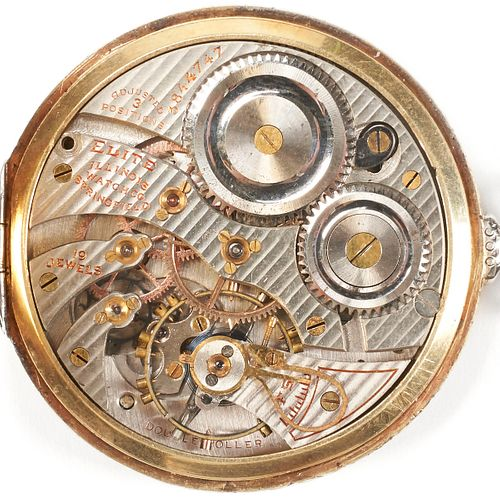 14K Gold Illinois Pocket Watch - 19 Jewels