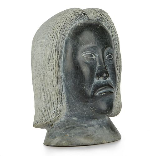 Large Stone Carving Woman's Head