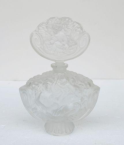 Large Perfume Crystal Bottle & Stopper
