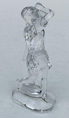 Waterford Crystal Lady Golfer Figurine