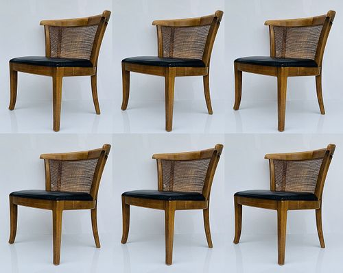 Set of 6 Dining Chairs with Rounded Backs by Drexel