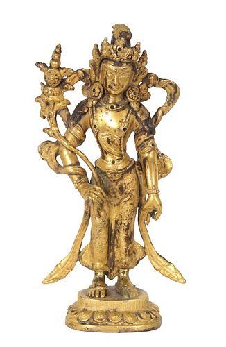 Qing Dynasty Gilt Bronze Bodhisattva/Buddha