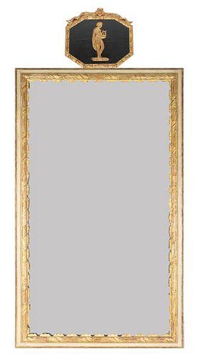 Large Antique Gilt Wood Framed Mirror