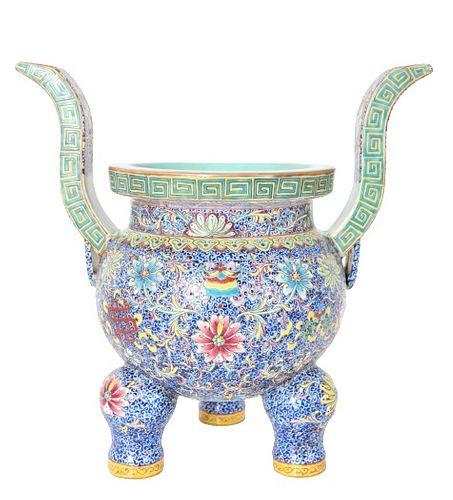 Qing Dynasty Censer W/ Qian Long Mark