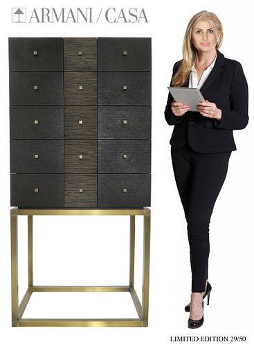 Limited Edition ARMANI / CASA High Legs Storage Cabinet