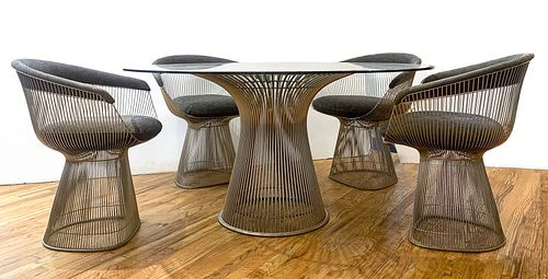 Platner For Knoll Dining Table & Chairs