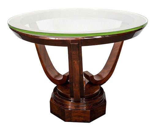 Andre Arbus French  Art Deco Mahogany Center Table