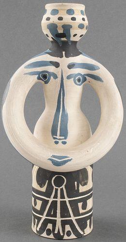 """Pablo Picasso Ceramic """"Lampe Femme"""" Vase"""