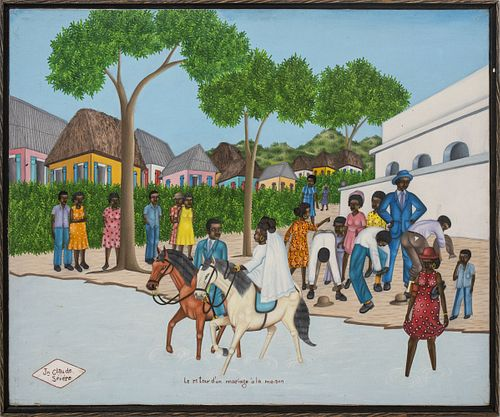 Jean Claude Severe Haitian Oil on Canvas