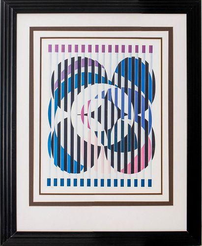 Yaacov Agam Signed Op Art Agamograph