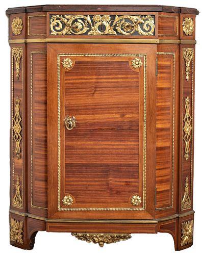 After Riesener Louis XVI Period Corner Cabinet