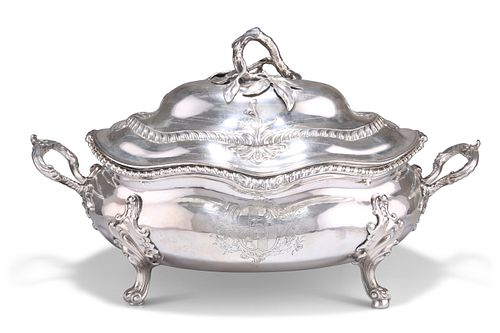 A LARGE GEORGE III SILVER SOUP TUREEN,?by?John Henry Vere & William Lutwych