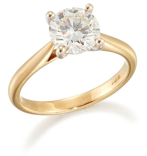 AN 18 CARAT GOLD SOLITAIRE DIAMOND RING, a round brilliant-cut diamond in a