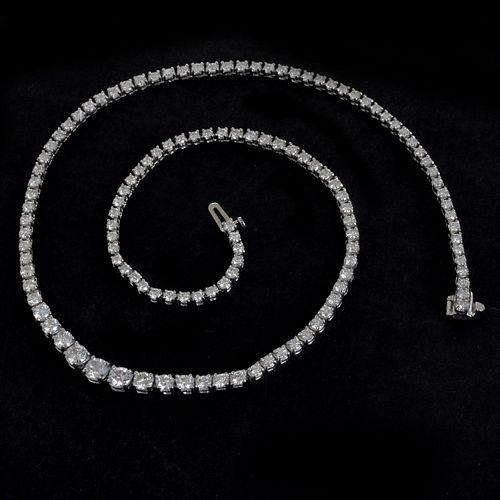 Diamond and 18K Necklace