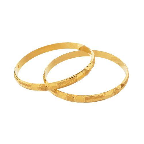 Two 20K Bangle Bracelets