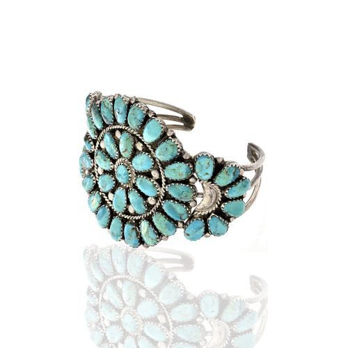 JWMS Turquoise and Sterling Bracelet