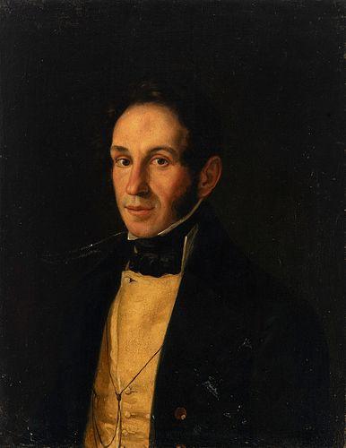 "Attributed to LEONARDO ALENZA Y NIETO (Madrid, 1807 - 1845). ""Portrait of a Gentleman. Oil on canvas. Relined"
