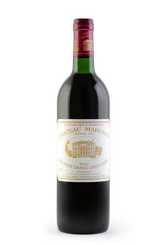 A bottle of Château Margaux, 1990 Vintage. Premier Grand Cru Classé. Category: red wine. Margaux, Bordeaux (France). B/C level. 0.75 cl.