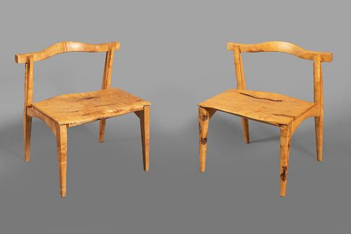 Katsumizu Kiichi, Pair of Japanese Maple Chairs, 2003