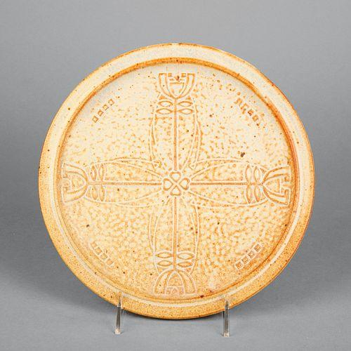 Janice McDuffie for Roycroft Pottery, Dard Hunter Rose Plate