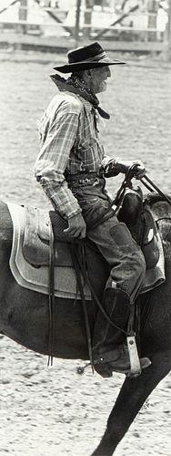 Steve Snyder, Untitled (Old Cowboy on Horse), 1986
