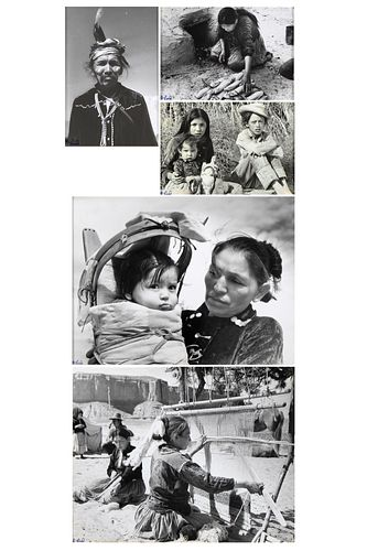 Carl Lind, Group of Five Photographs of Navajo Life