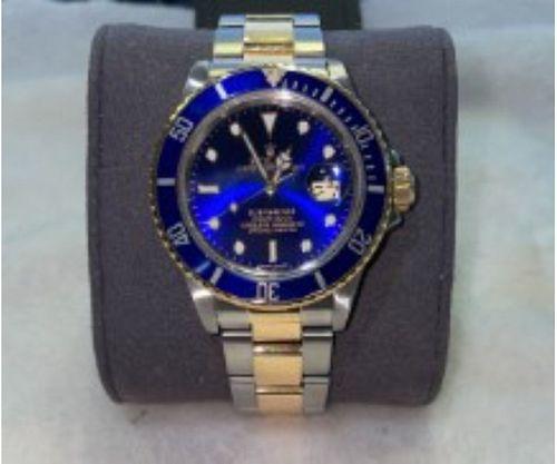 ROLEX SUBMARINER DATE 16803 18kt GOLD/STEEL BLUE W