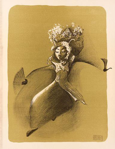 Al Hirschfeld - Le Gong Bali