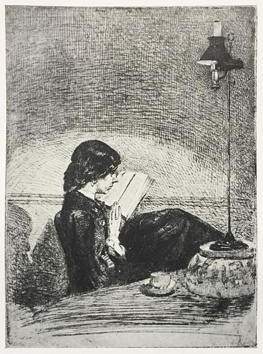 James McNeill Whistler (After) - Reading by Lamplight