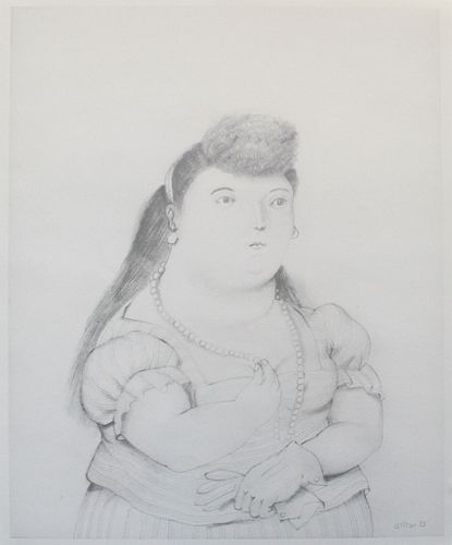 Fernando Botero - Untitled (Woman with Pearls)