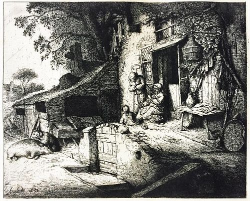 Adriaen van Ostades (After) - The Cottage Door