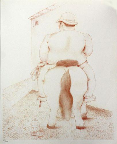 Fernando Botero (After)  - Man on a Horse