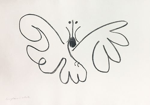 """Pablo Picasso - Untitled XXI from """"Cocteau Jean;"""