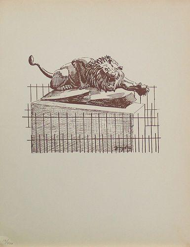 Georges Lucien Guyot (After) - Le Lion de la Place des