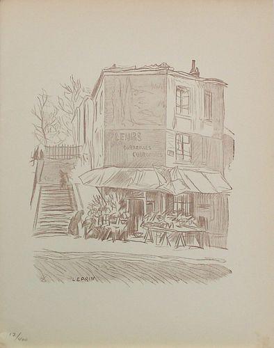 Marcel Leprin (After) - Escalier a Montmartre