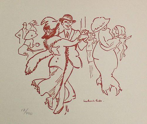 Ludovic Rodo Pissarro (After) - Danseurs au Moulin de