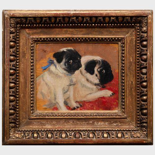 Henry Koehler (1927-2018): Two Pugs
