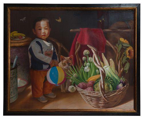 Yan-Zhou Xu (Chinese, b.1961) Oil on Canvas