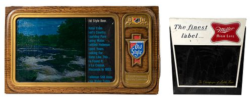 Lighted Electric Beer Advertising Signs