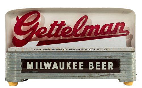 Milwaukee Beer 'Gettelman' Advertising Sign