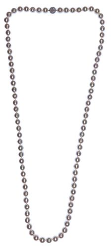 Cartier 18k White Gold, Cultured Pearl and Diamond Necklace