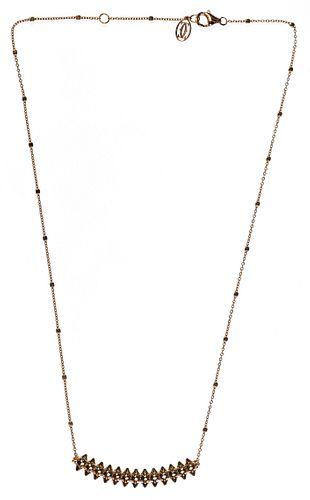 Cartier 18k Rose Gold 'Clash de Cartier' Necklace