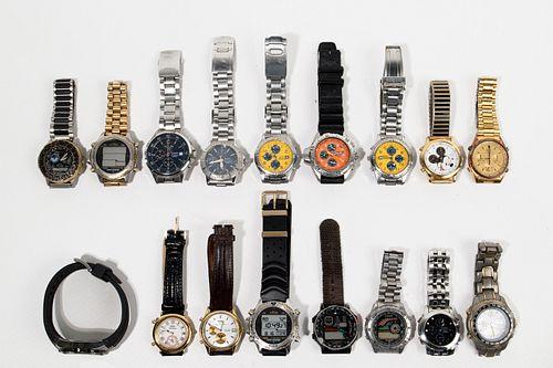 Seiko and Citizen Chronograph Wrist Watch Assortment