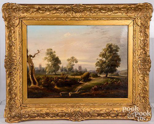 James Arthur O'Connor oil on canvas landscape