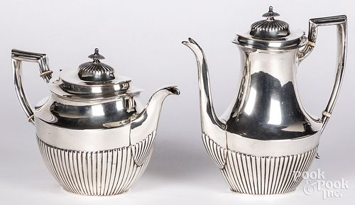 Fisher sterling silver tea and coffee pot