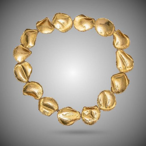 18k Angela Cummings For Tiffany Rose Petal Necklace