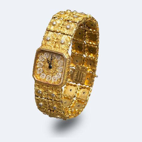 Buccellati 18K Gold Diamond Wristwatch
