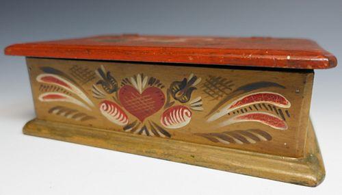 Folk Art Painted Dresser Box
